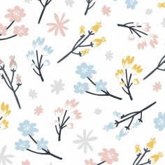 Prześcieradło Good Night 70x140 cm - Cute Flowers