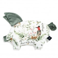 Velvet Collection - Podusia Sleepy Pig - Forest - Khaki