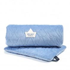 Velvet Collection - Set - Blanket & Mid Pillow - Dove Blue