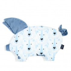 Velvet Collection - Podusia Sleepy Pig - Arctic Bear Family - Denim