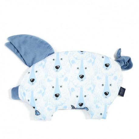 Velvet Collection - Podusia Sleepy Pig - Arctic Bear Family - Denim