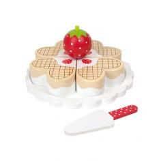 Drewniany tęczowy tort