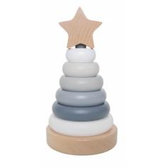Drewniana wieża piramida