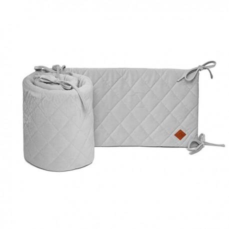 Velvet Collection - Ochraniacz do łóżeczka 60x120 cm - Dark Grey