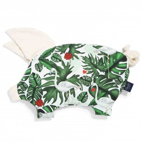 Podusia Sleepy Pig - Evergreen Tiger - Ecru