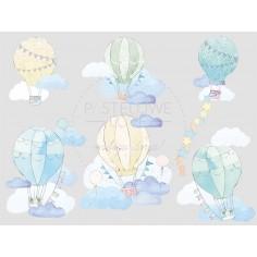 Naklejki Balony - Miętowe