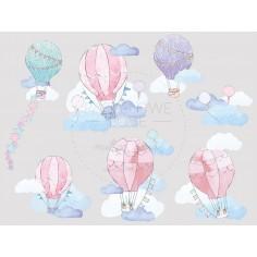 Naklejki Balony - Różowe