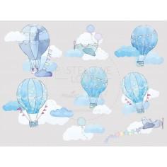 Naklejki Balony - Błękitne