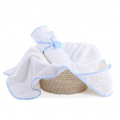 Ręcznik z kapturem MilkyWay Blue 0-4 lat