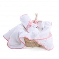 Ręcznik z kapturem MilkyWay Peach 0-4 lat