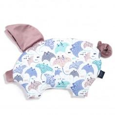 Velvet Collection - Podusia Sleepy Pig - Manta Ray - French Lavender