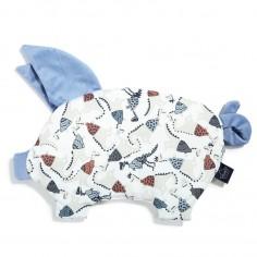 Velvet Collection - Podusia Sleepy Pig - Jurassic - Dove Blue