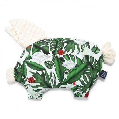 Podusia Sleepy Pig - Evergreen Tiger - Ecru