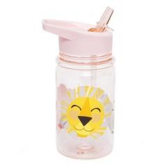 Bidon z Rurką Shiny Lion Pink