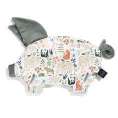 Velvet Collection - Podusia Sleepy Pig - La Millou ZOO - Khaki