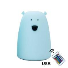 Lampka Miś duży - niebieski