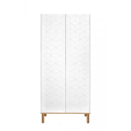 Szafa 2-drzwiowa Ines White Biała
