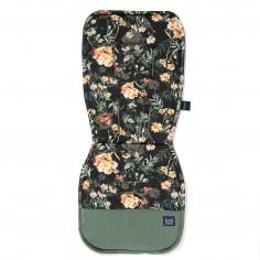 Organic Jersey Collection - Stroller pad - Blooming Boutique Noir - Velvet Khaki