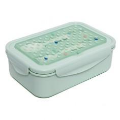 Lunchbox BENTO ze sztućcami - Krople mięty