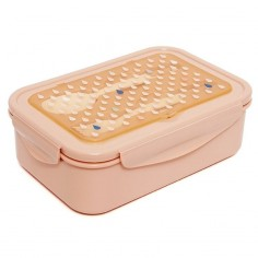Lunchbox BENTO ze sztućcami - Krople brzoskwini
