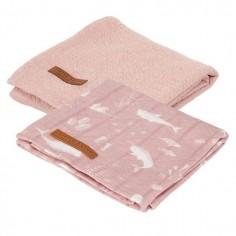 Otulacze 70x70cm (2szt.) Pure pink / Spring Flowers