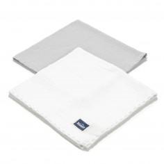 Biscuit Collection - 2 Pack Pieluszka 100% Cotton Muślin - Navy & Off White