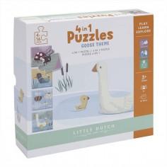 Puzzle drewniane Zoo