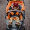 Velvet Collection - Thick Stroller Pad - Papagayo - Khaki