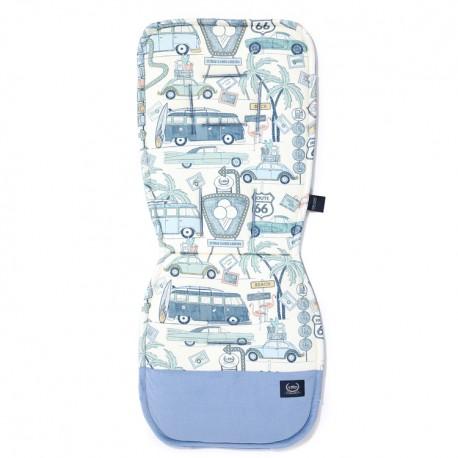 Organic Jersey Collection - Stroller pad - Route 66 Colour - Velvet Dove Blue