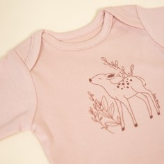 Body longsleeve Soft and Natural Pudrowy róż - 62 cm
