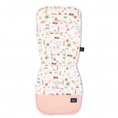 Organic Jersey Collection - Stroller pad - French Riviera Girl - Velvet Powder Pink
