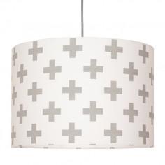 Lampa Sufitowa Krzyżyki Szare