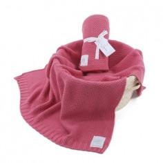 Kocyk tkany CottonClassic Perłowy Róż