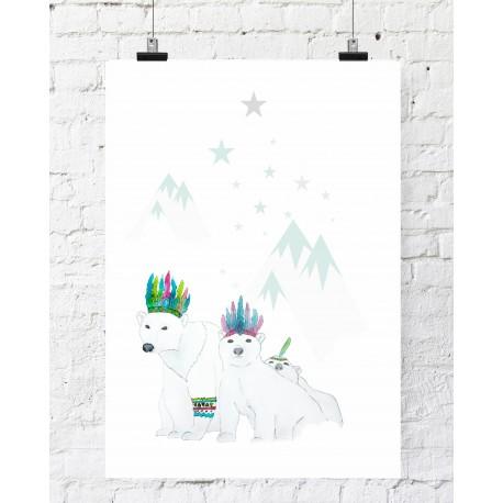 Ilustracja Misie Polarne