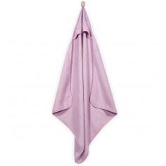 Mięciutki ręcznik z kapturem 75x75cm różowy
