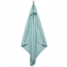Mięciutki ręcznik z kapturem 75x75cm miętowy