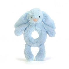 Królik grzechotka niebieski 18 cm
